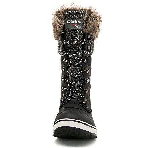 ... Global Seier Globalwin Womens 1730 Vinter Snø Støvler 1733black ...
