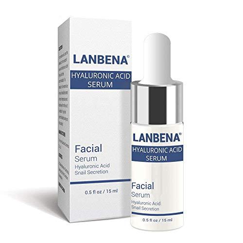 - Lady Face Serum Hyaluronic Acid Snail Whitening Anti Aging Moisturizing Essence for Repair Skin Damage Lifting and Firming and Replenishing Moisturizing - 15ml