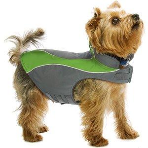 Kakadu Pet Explorer Nylon Fleece Reflective Dog Coat, 14″, Grass (Green), My Pet Supplies