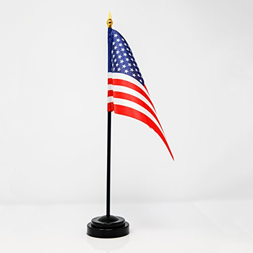 Miniature U.S. American Flag with Base