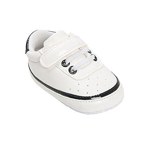 ad2df5d16f06b Chaussures de bébé Auxma Chaussures Bébé garçon fille Baskets en cuir PU  avant bébé ...