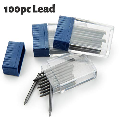 2 Mm Lead Refills - Mr. Pen- Compass Lead, 100pcs Leads, 2mm Lead, Refills Compass for Geometry, Lead for Drawing Circle, Replacement Leads in Refill Tube, Math Compass Lead, Drafting Lead, Break Resistant Lead, Graphite