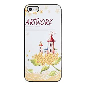 SUMCOM Fairy Tale's House Pattern PC Hard Case with Black Frame for iPhone 5/5S
