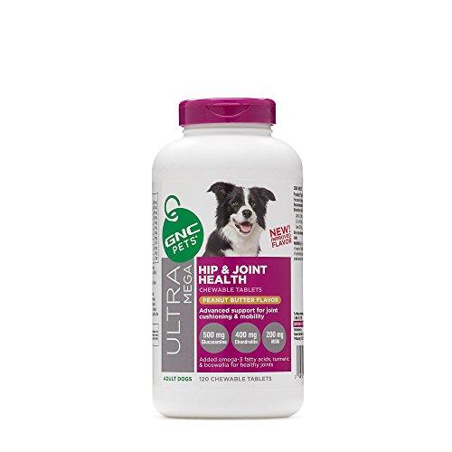 GNC Ultra Mega Hip & Joint Health Premium Formula Chewable Tablet - Peanut Butter Flavor - 120 Chewable Tablets ()
