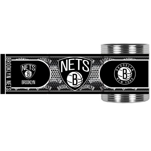 NBA Brooklyn Nets Metallic Can Holder, Stainless Steel by Great American Products