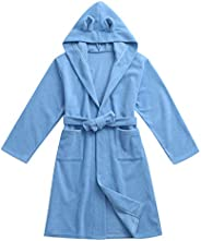Baby Boys Girls Soft Hooded Bathrobe Towel for 5-11T Little Kid Pajamas Bathing Robes Clothes Set