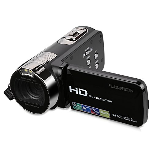 FLOUREON-HD-1080P-Camcorder-Digital-Video-Camera-DV-27-TFT-LCD-Screen-16x-Zoom-270-Degrees-Rotation-for-Sport-YoutubeShort-Films-Video-Recording-Black