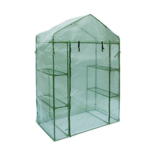 ALEKO GH56X29X77 Walk In Garden Plant Outdoor Greenhouse 4 Shelves Shed 56X29X77 Inches by ALEKO