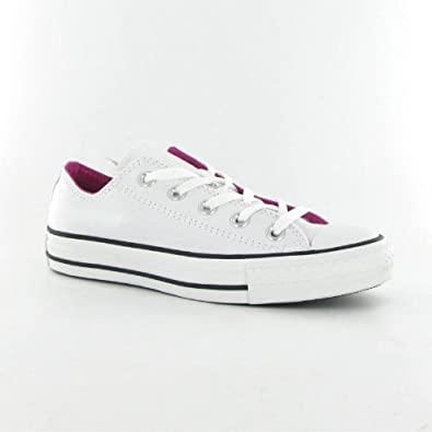 25e2936ea3f233 Converse Ct Double Tongue Ox White Canvas Womens Trainers  Amazon.co.uk   Shoes   Bags