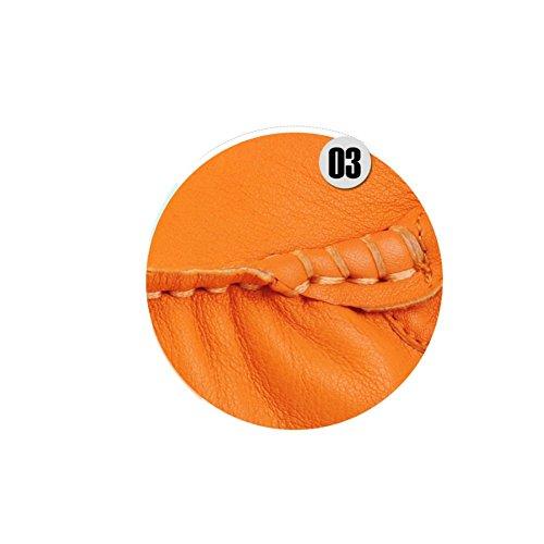 All'aperto Elegante Traspirante Maschi NIUMJ Moda Estate Orange Casuale Guida Pelle Comodo rYAA8xn