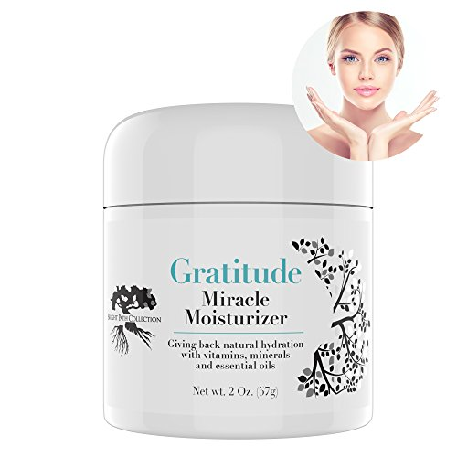 Gratitude Miracle Moisturizer Face Cream and Eye Cream by Bright Path, Anti-aging, Anti-Wrinkle, Vitamins, Antioxidants, Hyaluronic, Vitamin C, Essential Oils, Eye Puffiness, Dark Circles, 2oz - Collection Eye Essential