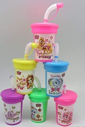 6 Disney Palace Pets Stickers Birthday Sipper Cups with lids Party Favor Cups -
