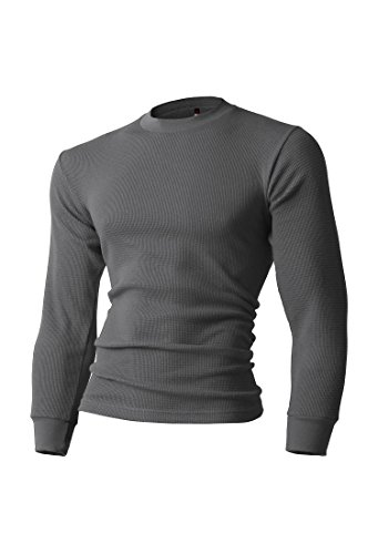 KS Mens Thermal T Shirts (X-Large/ ks23_coolgray) by Hat and Beyond