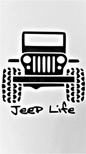 Jeep Life Off Road 4 X 4 Wrangler Rubicon Vinyl Decal Sticker|BLACK|Jeeps Cars Trucks Suvs Laptops Tool Box Wall Art|5