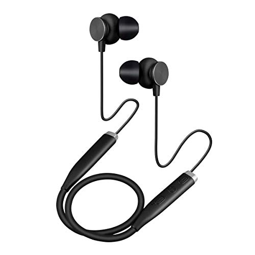 Bluetooth Headphones Waterproof Sport Earbuds Rechargeable HD Stereo Sweatproof in Ear Earbuds for Gym Running Workout Noise Canceling Headsets -Black