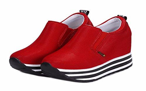 Dentro Spillo red Scarpe A da KPHY Donna Ginnastica Piu Scarpe Sono Da 'Spessi Vestiti Da Primavera Solo Scarpe Muffin donna Scarpe 10Cm Scarpe Tacchi f6qgv