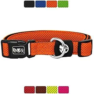 DDOXX Collar Perro Air Mesh, Ajustable, Acolchado | Muchos Colores & Tamaños | para Perros Pequeño, Mediano y Grande…