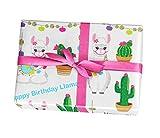 Llama wrapping paper gift sheets - 15FT