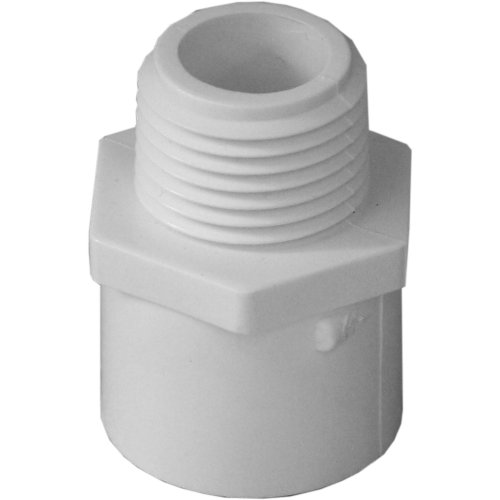 Genova Products 30405CP 1/2-Inch Male Iron Pipe Thread PVC Pipe Adapter Slip by Male Iron Pipe Thread - 10 Pack