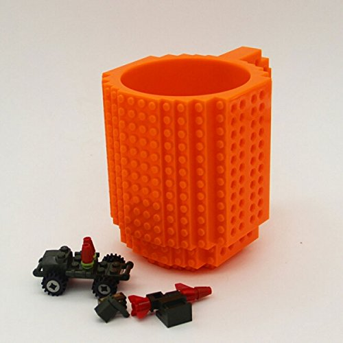 Mug Coffee - Diy Puzzle Block Toy Brick Mug Coffee Cup Orange 350ml - Initial Awesome Dripper Bong To Floral Glass Bean Infuser Togo for $<!--$36.99-->