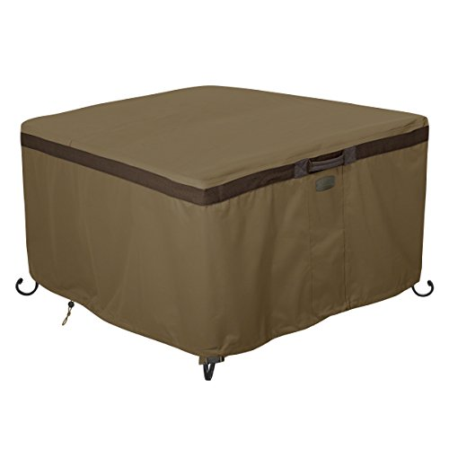 Classic Accessories Hickory Heavy Duty 42″ Square Fire Pit Table Cover – Durable and Water Resistant Patio Cover (55-637-240101-EC)
