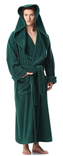 Arus Men s Monk Robe Style Full Length Long Hooded Turkish Terry Cloth  Bathrobe f3f75c56b