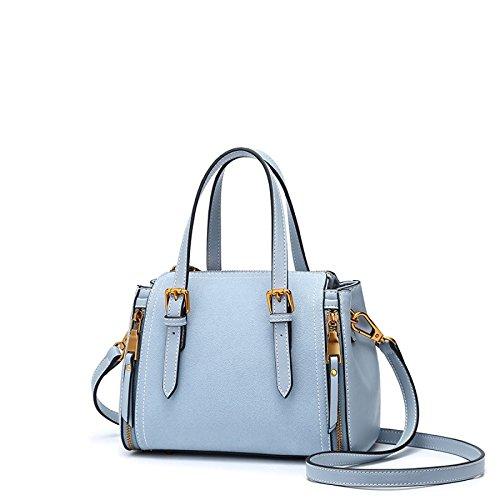 Bolso de hombro femenino Bolso de bolso elegante creativo Messenger Azul