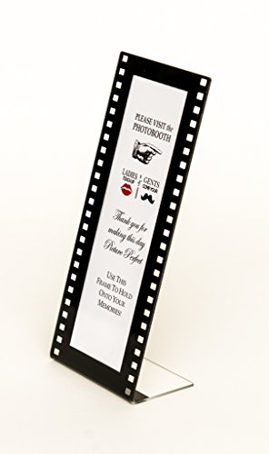 Photo Booth Frames Slanted 36 Pieces Film Style with Insert for 2x6 Photo Strips Hollywood L Style Frame