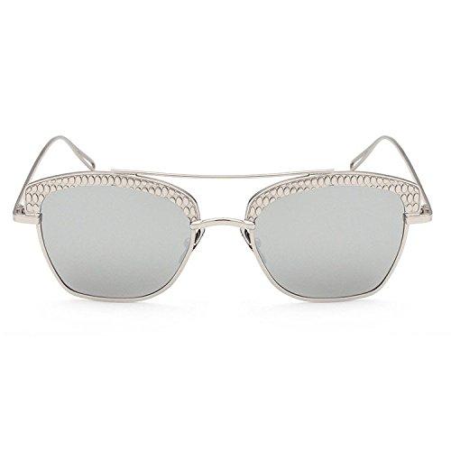 Aoligei Hommes femmes générales de style rétro marée miroir polarisant lunettes de soleil lunettes de soleil lunettes de soleil métalliques Zdf5W
