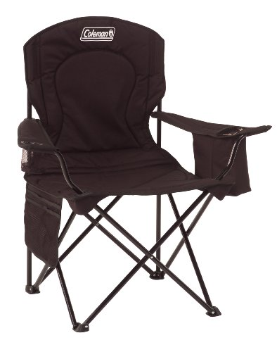 Coleman Broadband Quad Chair with Cooler, Black, Outdoor Stuffs