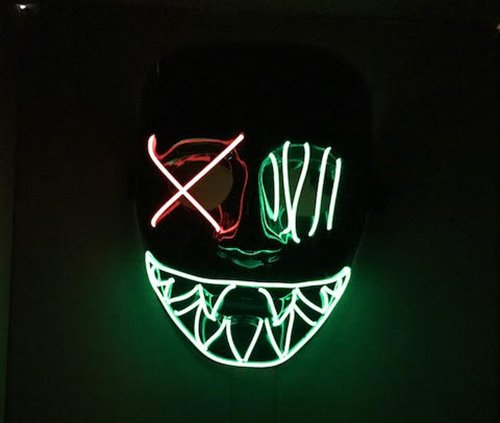 92e2044e Cross Eye Mask LED Light Up Mask Halloween Smile Fancy Dress Cosplay Purge  XO - Buy Online in UAE. | Kids Products in the UAE - See Prices, Reviews  and Free ...