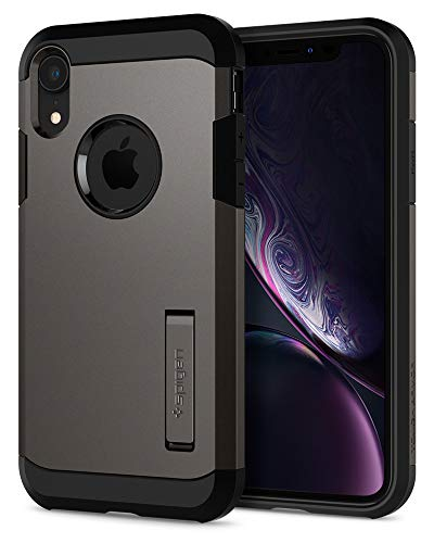 - Spigen Tough Armor Designed for Apple iPhone XR Case (2018) - Gunmetal