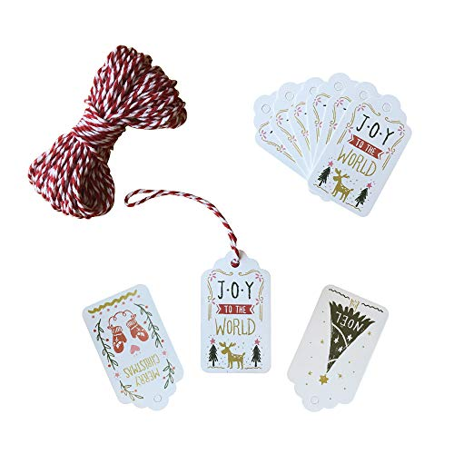 150Ct Christmas Gift Tags Labels for Gifts Present/Wrapping Paper Decorations