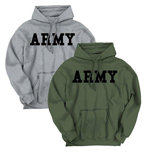 Brisco Brands Military Army Patriotic American Gun Gifts Second Amendment Hoodie Sweatshirt