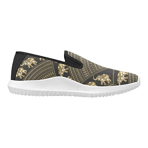 Sneakers Womens Shoes Canvas InterestPrint Loafer 3 Multi Slip Fashion On Rx0T0U
