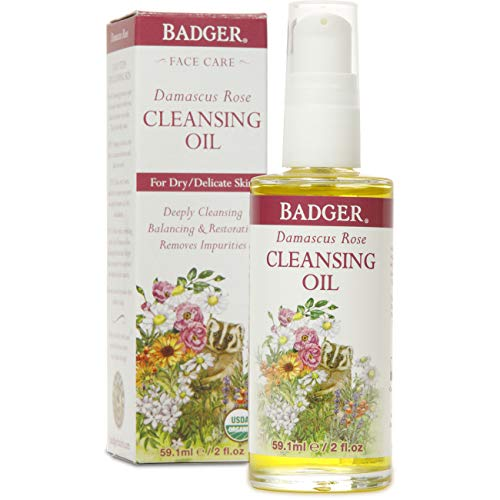 Badger Face Cleansing Oil Makeup Remover, Damascus Rose