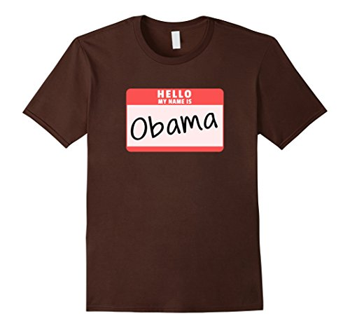 Mens Hello My Name is Obama Funny Halloween Obama Costume T-Shirt 3XL (Obama Halloween Costumes)
