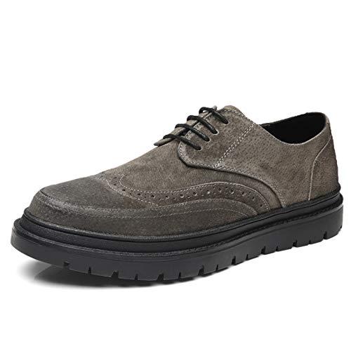 Army vert LOVDRAM Chaussures Hommes Printemps Nouveaux Souliers Bullock Chaussures Casual Chaussures en Cuir Chaussures Mode Hommes Sauvage Chaussures Chaussures