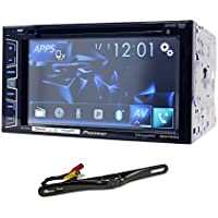 Package: Pioneer AVH-X2700BS 6.2 DVD/CD Player Double Din Receiver With USB, Bluetooth, SiriusXM Ready, and Pandora + Rockville RBC5B Black Rearview Backup License Plate Bar Camera