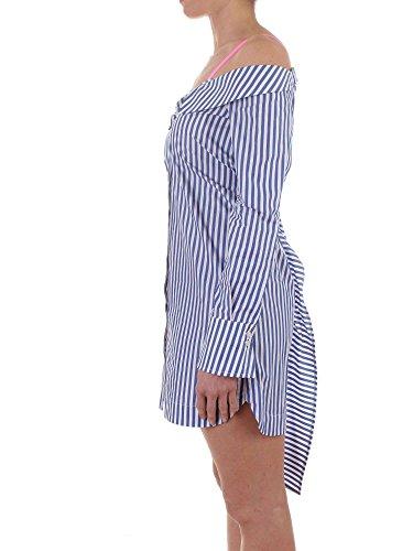 Bianco Donna INGIOIELLARE Pinko Popeline Bluette MOD Abito Bluette Bianco in qwR847