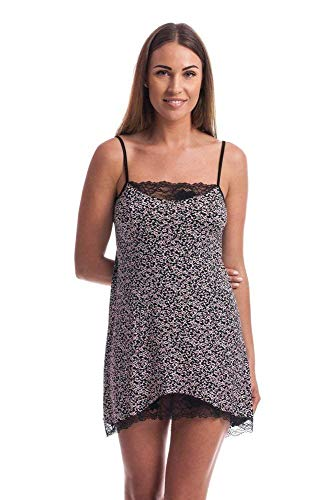 Flos Veris Women's Nightdress with Lace Ladies Nightwear S M L size Chemise Made in Europe by Flos veris
