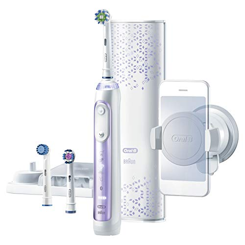 Oral-B 8000 Electronic Toothbrush, Orchid Purple, Powered by Braun (The Best Electric Toothbrush For Receding Gums)