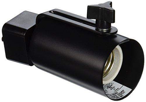 Juno Lighting Group T691BL Incandescent Mini-Swivel Track Light, Black Finish