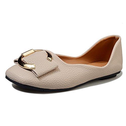 ZHANGRONG- Zapatos Planos Ocasionales de Las Señoras del Color Sólido Clásico de Las Nuevas Señoras Zapatos Casuales (Color : C, Tamaño : EU39/UK6/CN39) B