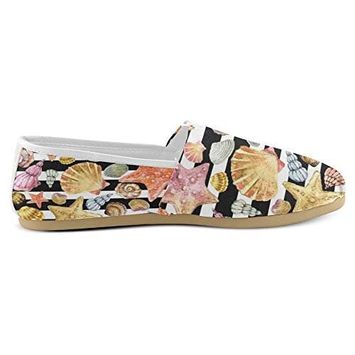 Interestprint Womens Loafers Klassiska Avslappnade Duk Slip På Mode Skor Gymnastikskor Lägenheter Multi 29
