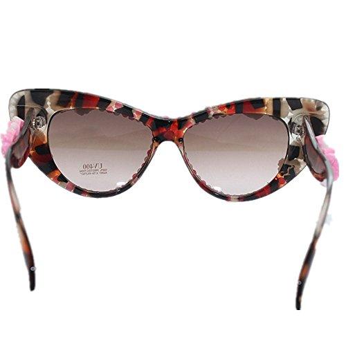 de Gato de Flor de Sol de Gafas de de Clase Las polimérica de Ultra a Ojos los la Playa de de Ligero Verano Mano Arcilla Gafas el para Playa Alta la Cristal Sol de de Hechas de Sol Mujeres Gafas CAwX7PxXgq
