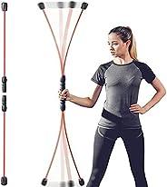 Elastic Fitness Exercise Bar-Detachable-Weight Loss Exercise Fat Burning Training Tremor Stick-Multi-Functiona