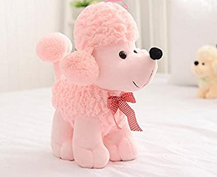 Plush Toys Dogs Poodle High Simulation Children Gifts Doll Stuffed Lovely Scarf