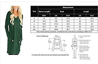 lilis story Women Long Sleeves Shirt V-Neck Tunic Tops for Legging Pocket Solid Color Casual Blouse