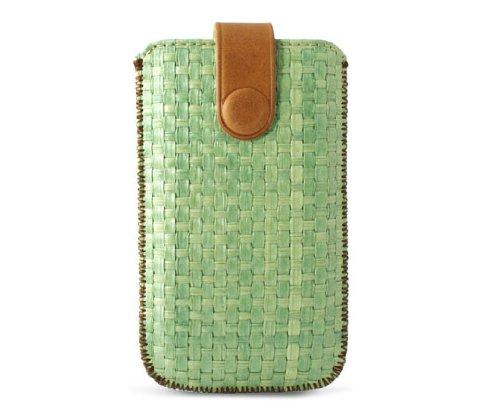 KSIX BXFUPIV Zahara Handytasche für Apple iPhone 4/4S Große L4/4S grün